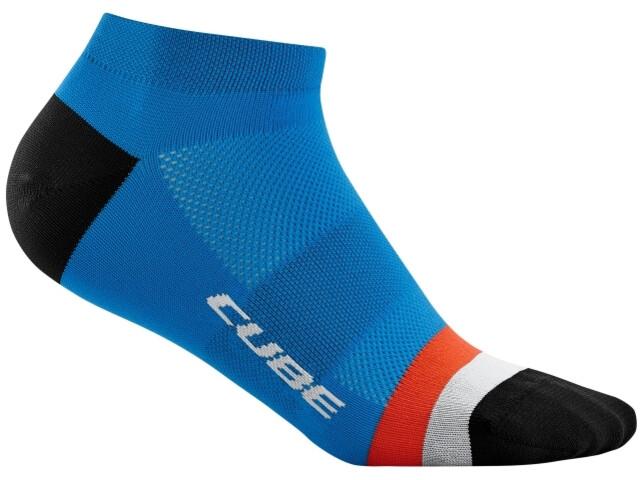 Cube Teamline Low Cut Socks, blue´n´red´n´grey